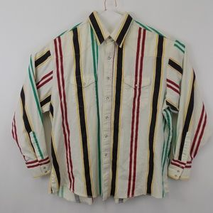 Wrangler Men's Size XXL Denim Striped Shirt